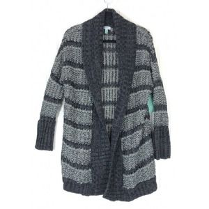Susina sweater combo bouncle cardigan open front